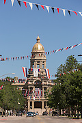 Wyoming State Capitol Building in Cheyenne, Wyoming. The building was constructed in 1886 when Wyoming was only a territory.
