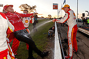 Championship leader Scott McLaughlin wins race 1 of the Truck Assist Winton SuperSprint Event 6 of the Virgin Australia Supercars Championship, Winton, Victoria. Australia. 25th May 2019.