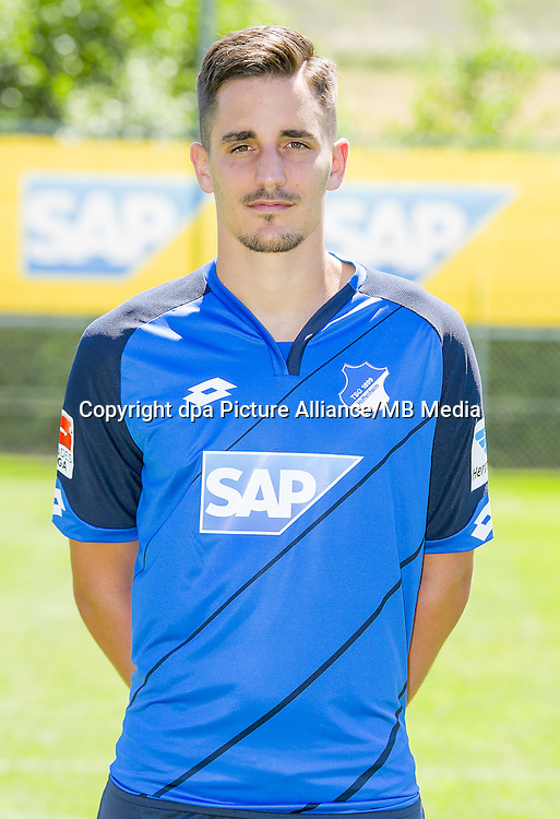 German Bundesliga - Season 2016/17 - Photocall 1899 Hoffenheim on 19 July 2016 in Zuzenhausen, Germany: Benjamin Huebner. Photo: APF  | usage worldwide