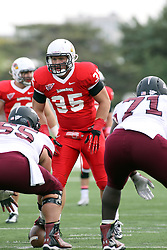 06 October 2012:  Colton Underwood during an NCAA football game between the Southern Illinois Salukis and the Illinois State Redbirds at Hancock Stadium in Normal IL