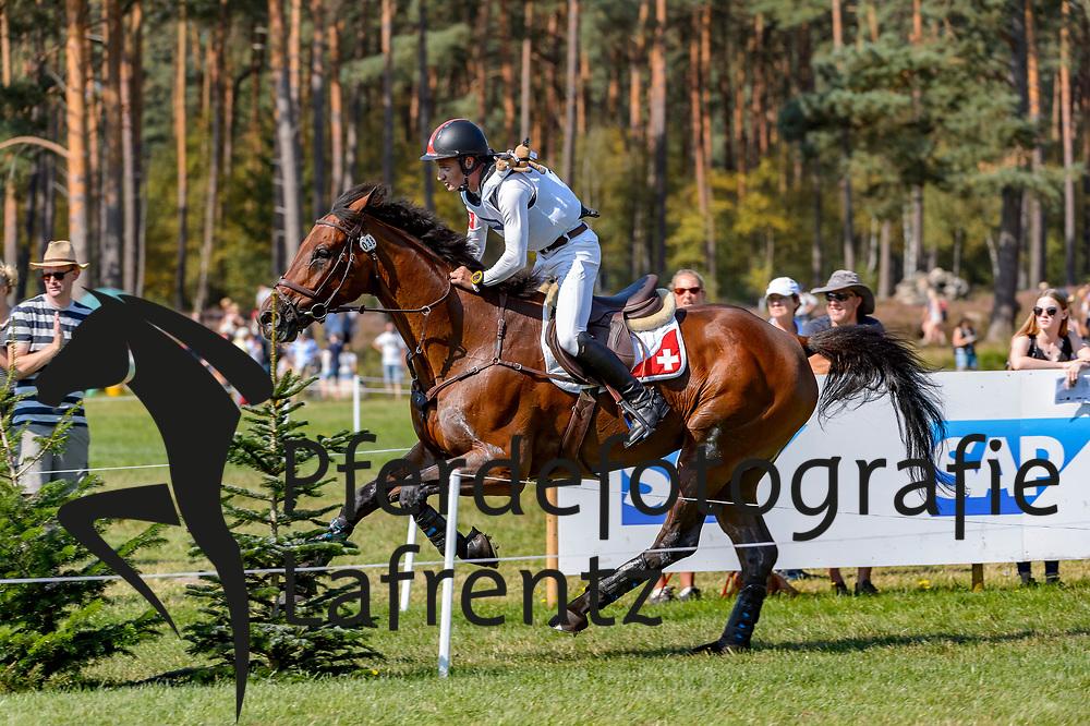GODEL Robin (SUI), Grandeur de Lully CH<br /> Luhmühlen - LONGINES FEI Eventing European Championships 2019<br /> Impressionen Zieleinlauf<br /> Geländeritt CCI 4*<br /> Cross country CH-EU-CCI4*-L<br /> 31. August 2019<br /> © www.sportfotos-lafrentz.de/Tanja Becker