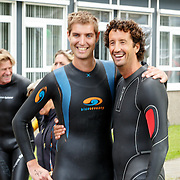 NLD/Amsterdam/20150906 - Amsterdam City Swim 2015, Maarten van der Weijden en Jan Joost van Gangelen