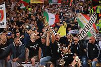 Celebrazione Coppa Juventus vince il trofeo, Celebration Cup Juventus Wins the trophy Tifosi fans, supporters<br /> Roma 09-05-2018  Stadio Olimpico  <br /> Football Calcio Finale Coppa Italia / Italy's Cup Final 2017/2018 <br /> Juventus - Milan<br /> Foto Cesare Purini / Insidefoto