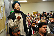 The Sidney, N.Y., town hall meeting where an injunction against a sufi cemetery was discussed, Thursday, October 14, 2010.<br /> (AP Photo/Heather Ainsworth)
