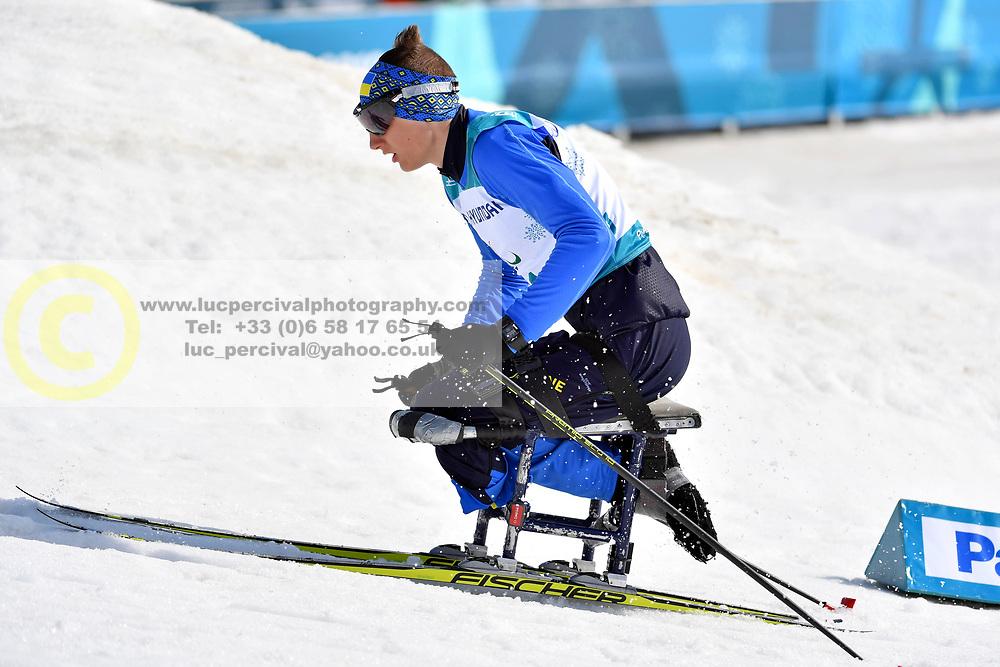 RAD Taras UKR LW12 competing in the ParaSkiDeFond, Para Nordic Skiing, Sprint at  the PyeongChang2018 Winter Paralympic Games, South Korea.
