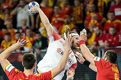HANSEN Mikkel of Denmark during handball match between National teams of Macedonia and Denmark on Day 7 in Main Round of Men's EHF EURO 2018, on January 24, 2018 in Arena Varazdin, Varazdin, Croatia. Photo by Mario Horvat / Sportida