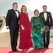 LUX/Luxemburg/20180523 - Staatsbezoek Luxemburg dag 1 , Koningin Maxima en Koning Willem Alexander, Groothertog Henri en Groothertogin Maria Teresa
