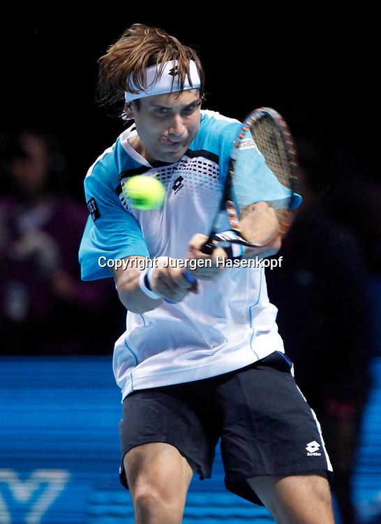 ATP World Tour Finals  2010 in der O2 Arena in London, HerrenTennis Turnier, WM, Weltmeisterschaft, David Ferrer (ESP),action