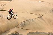 Mountain bike cycling, Smogen, Bohuslan, Smögen; bohuslän; Sweden