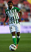 VALENCIA, SPAIN - JUNE 01: Dorlan Pabon of Real Betis Balompie in action during the Liga BBVA between Levante UD and Real Betis Balompie at the Ciutat de Valencia stadium on June 01, 2013 in Valencia, Spain. (Photo by Aitor Alcalde Colomer).