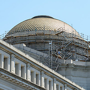 Smithsonian National Museum of Natural History Renovations. Scaffolding on the exterior of the central dome of the Smithsonian's National Museum of Natural History on Washington DC's National Mall as of July 2012.