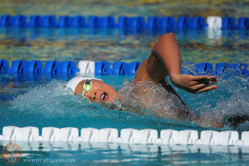 May 31, 2012; Santa Clara, CA, USA; Taehwan Park (KOR) competes during the men's 800-meter freestyle in the Santa Clara international grand prix at the George F. Haines International Swim Center.