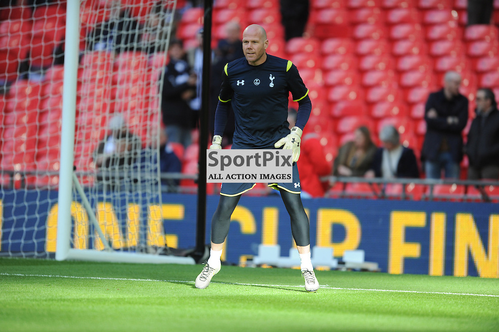 Brad Fridal warms up ahead of theCapital One Cup Final, Chelsea v Tottenham Hotspur Wembley Stadium Sunday 1st March 2015