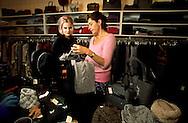 New York. Nolita district.   Christiane Celle a French women. owner of Calypso and others shops  - The queens of Nolita -; /   les - reines de Nolita- Christiane Celle , une francaise,  qui possede des boutiques dans le quartier dont la celebre Calypso.