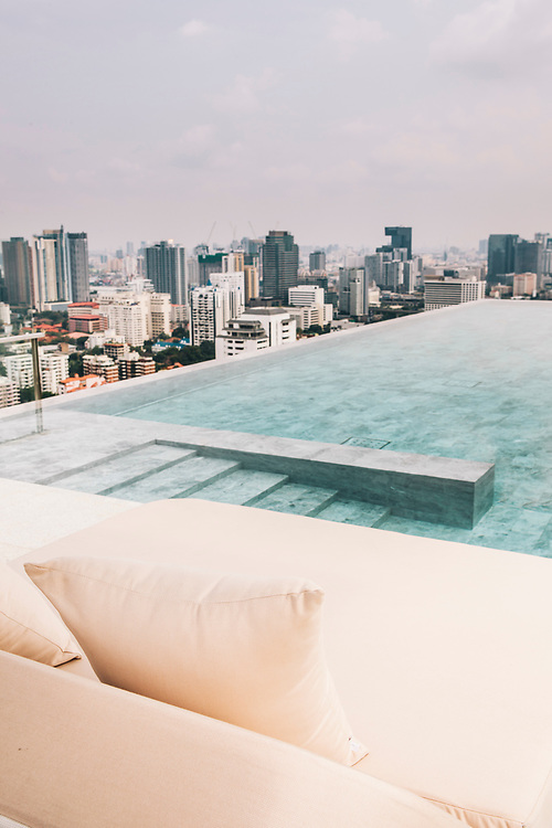 Roof top pool for suite guests at 137 Pillars Hotel