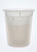 three plastic measurement cups stacked in each other