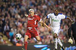 LIVERPOOL, ENGLAND - Thursday, May 14, 2009: Liverpool Legends' Ian Rush and All Stars' Des Walker during the Hillsborough Memorial Charity Game at Anfield. (Photo by David Rawcliffe/Propaganda)