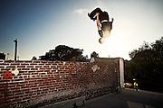 Traceur, stuntman and American Ninja Warrior favorite Brent Steffensen at the 1320Main studio in Venice, Calif.