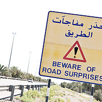 Abu Dhabi, United Arab Emirates 04 April 2009.Motor-way connecting Abu Dhabi to Al-Ain..PHOTO: EZEQUIEL SCAGNETTI