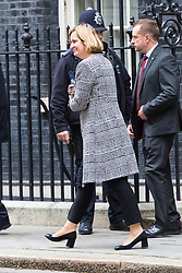 London, October 31 2017. Home Secretary Amber Rudd leaves the weekly UK cabinet meeting at Downing Street. © Paul Davey