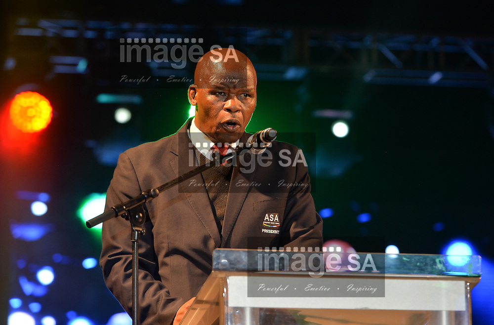 DURBAN, SOUTH AFRICA - JUNE 21: Aleck Skhosana, Athletics South Africa president during the CAA 20th African Senior Championships Opening Ceremony at Growth Point Kings Park stadium on June 21, 2016 in Durban, South Africa. (Photo by Roger Sedres/Gallo Images)
