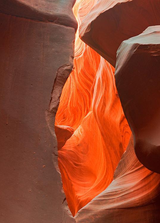 Antelope Canyon, Near Page Arizona, Navajo Nation, Fluid Shapes, slot canyon