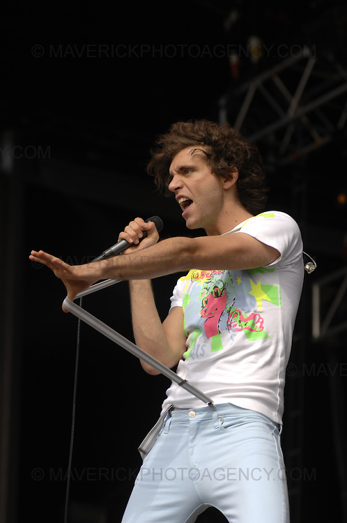 BALADO, KINROSS, SCOTLAND - JULY 8th 2007: Mika performs live at T in the Park 2007.