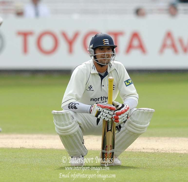 London, GREAT BRITAIN, Owais SHAH, during the  2nd innings of the Liverpool Victoria Div 2 County championship match between  Middlesex vs Essex, at Lord's Cricket Ground, England on the 3rd days play  Sun 17.06.2007  [Photo, Peter Spurrier/Intersport-images].....