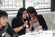LUUL HUSSEIN; FATIMA KARIM, Literary charity First Story fundraising dinner. Cafe Anglais. London. 10 May 2010. *** Local Caption *** -DO NOT ARCHIVE-© Copyright Photograph by Dafydd Jones. 248 Clapham Rd. London SW9 0PZ. Tel 0207 820 0771. www.dafjones.com.<br /> LUUL HUSSEIN; FATIMA KARIM, Literary charity First Story fundraising dinner. Cafe Anglais. London. 10 May 2010.