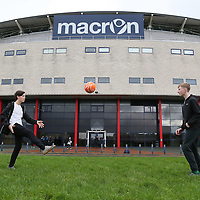 Fans play football before the Sky Bet Championship match between Bolton Wanderers and Fulham played at the Macron Stadium on December 19th 2015