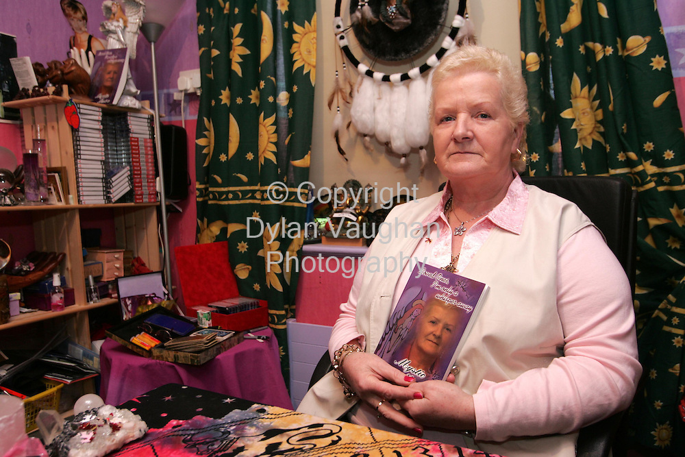 28/3/2005.Mystic Moira pictured in her reading room at her home in Bennettsbridge County Kilkenny..Picturte Dylan Vaughan