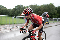 Leah Kirchmann (CAN) of Team Sunweb climbs on the final ascent of Stage 4 of 2019 OVO Women's Tour, a 158.9 km road race from Warwick to Burton Dassett, United Kingdom on June 13, 2019. Photo by Balint Hamvas/velofocus.com