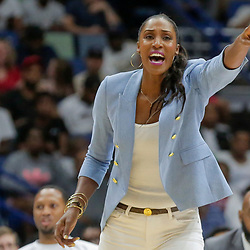 Aug 25, 2019; New Orleans, LA, USA; Triplets coach Lisa Leslie during the Big Three Playoffs at the Smoothie King Center. Mandatory Credit: Derick E. Hingle-USA TODAY Sports