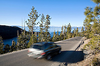 Highway 89 above Emerald Bay. Lake Tahoe, CA