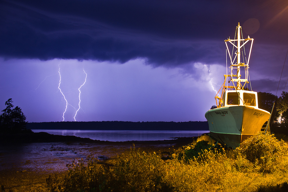 Unbelievable display of nature's power last night at Lookout Point in Harpswell.