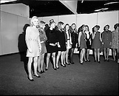 1969 -  Selecting models for 6th Irish Export Fashion Fair
