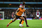 Wolverhampton Wanderers striker Ivan Cavaleiro (7)  under pressure during the EFL Sky Bet Championship match between Aston Villa and Wolverhampton Wanderers at Villa Park, Birmingham, England on 10 March 2018. Picture by Dennis Goodwin.