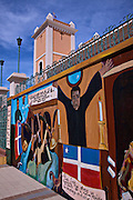 Mural in honor of the La Batalla del Pepino or the Battle of the Cucumber in San Sebastián Puerto Rico. The battle was part of the uprising against Spanish colonial rule.