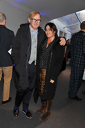 DAVID COLLINS and SOLANGE AZAGURY PARTRIDGE  at the Vogue Festival 2012 in association with Vertu held at the Royal Geographical Society, London on 20th April 2012.