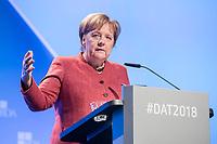 23 NOV 2018, BERLIN/GERMANY:<br /> Angela Merkel, CDU, Bundeskanzlerin, haelt eine Rede, Deutscher Arbeitgebertag 2018, Vereinigung Deutscher Arbeitgeber, BDA, Estrell Convention Center<br /> IMAGE: 20181123-01-237