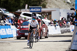 Omer Shapira (ISR) crosses the line at Amgen Tour of California Women's Race empowered with SRAM 2019 - Stage 2, a 74 km road race from Ontario to Mount Baldy, United States on May 17, 2019. Photo by Sean Robinson/velofocus.com