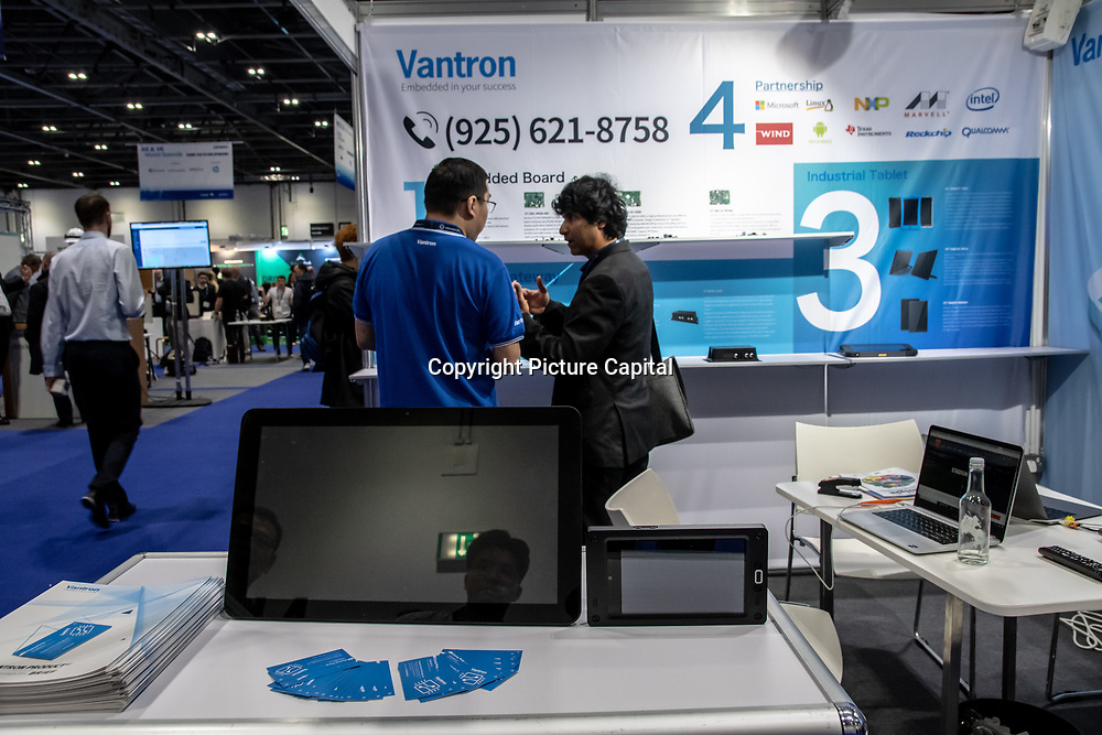 Vantron of Chengdu Vantron Technology Ltd exhibition at 5G World Day Two at Excel London,on 12 June 2019, UK.