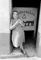 Woman at La Barca, Progresso, Mexico
