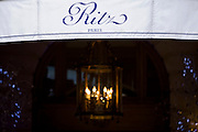 Ritz hotel awning in Place Vendome, Paris, France