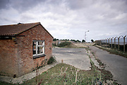 © Licensed to London News Pictures. 22/10/2017. Bawdsey, UK. Disused buildings and roads around the site.  RAF Bawdsey, WW2 radar and Cold-War Bloodhound Surface to Air Missile (SAM) base at Bawdsey Ferry, Suffolk, today 22nd October 2017. The base was decommissioned in 1991 leaving behind a deserted base.  Photo credit: Stephen Simpson/LNP