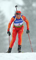 Yingchao Kong (CHN) at Women 15 km Individual at E.ON Ruhrgas IBU World Cup Biathlon in Hochfilzen (replacement Pokljuka), on December 18, 2008, in Hochfilzen, Austria. (Photo by Vid Ponikvar / Sportida)