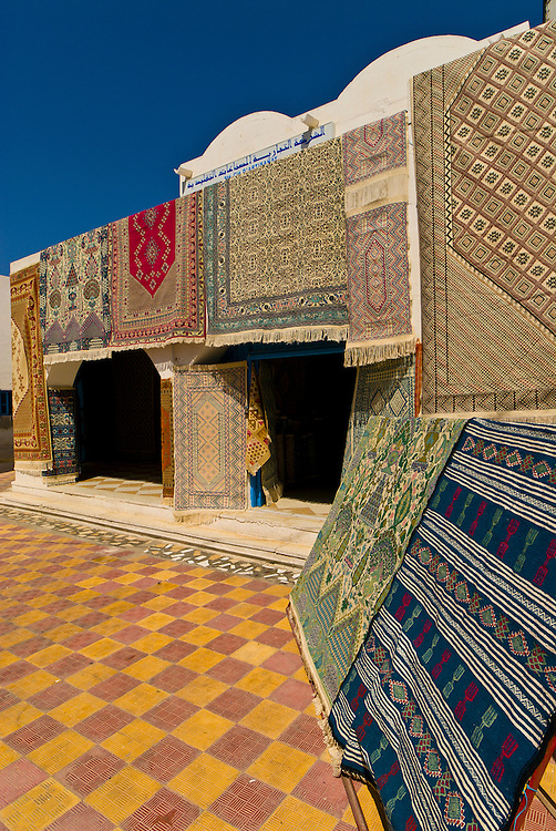 Rugs for sale, Djerba Island, Tunisia