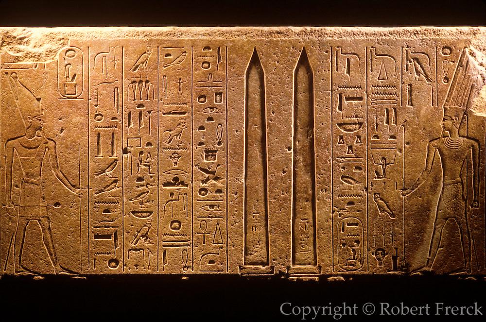 EGYPT, THEBES, LUXOR Queen Hatshepsut's stelae, Amun