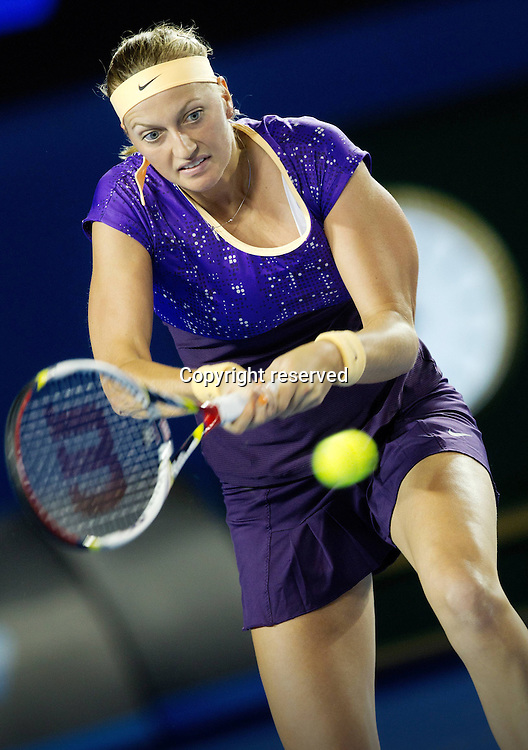 17.01.2013 Melbourne, Australia. World Tour Grand Slam Australian Open Melbourne Park ITF Grand Slam Tennis Tournament. Picture shows Petra Kvitova CZE