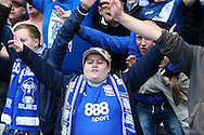 Birmingham City fans during the Sky Bet Championship match at St Andrews, Birmingham<br /> Picture by Andy Kearns/Focus Images Ltd 0781 864 4264<br /> 30/10/2016